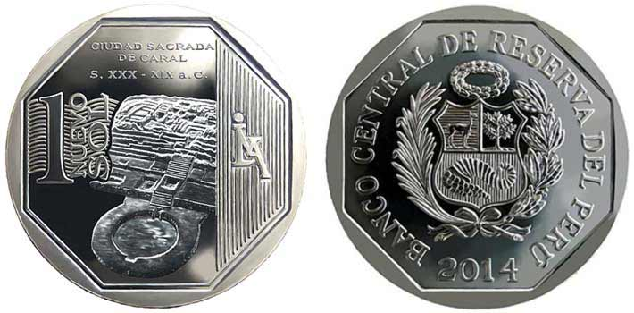 wealth and pride peruvian coin series caral