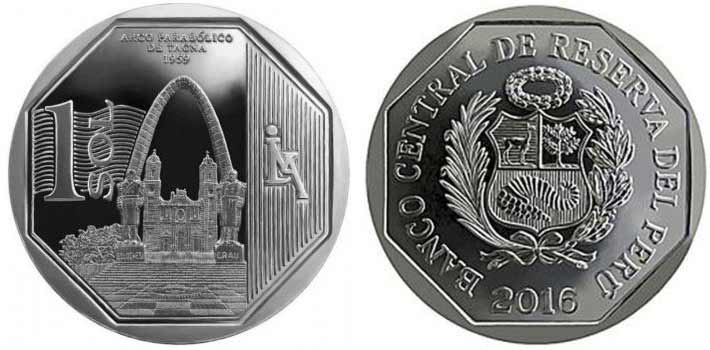 wealth and pride peruvian coin series parabolic arch of tacna