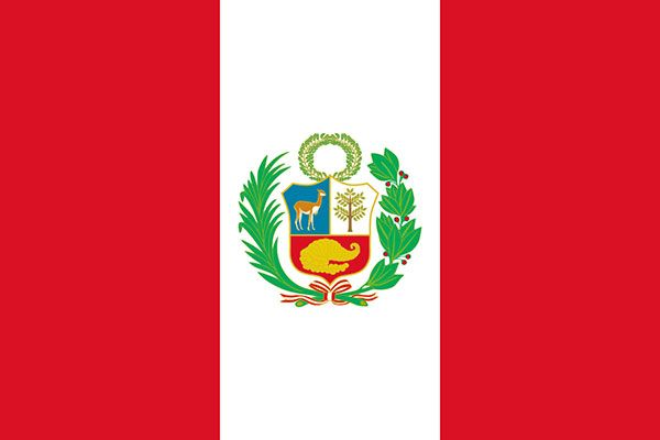 The flag of Peru in 1825