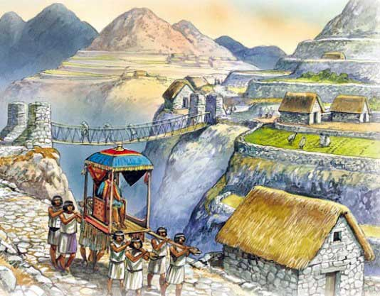 Inca litters were used for both travel and during battle