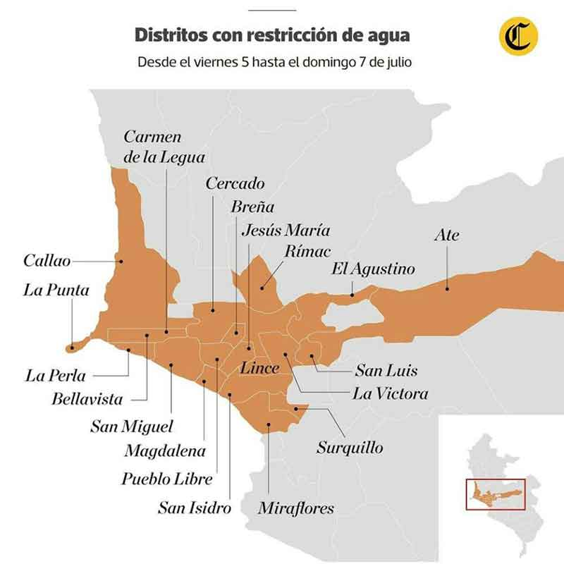 map districts without water el comercio