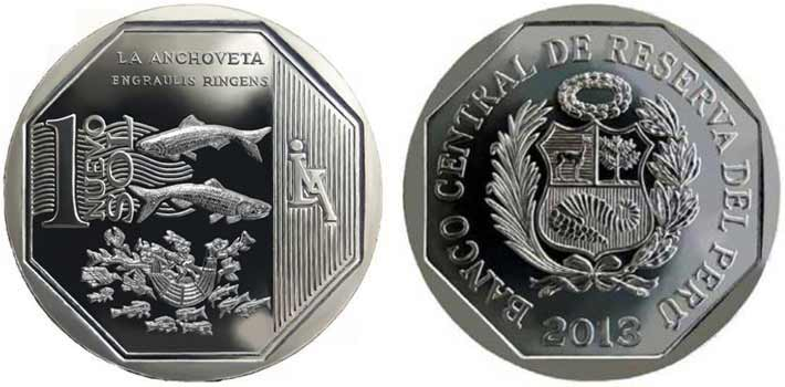 natural resources peruvian coin series anchoveta