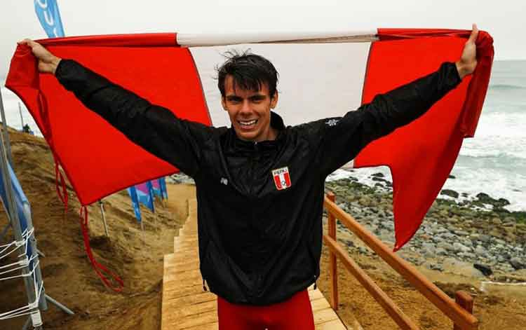 pan american games 2019 peruvian itzel delgado wins bronze mens sup race