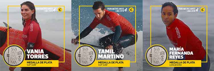 Lima 2019 Peruvian silver medalists in surfing