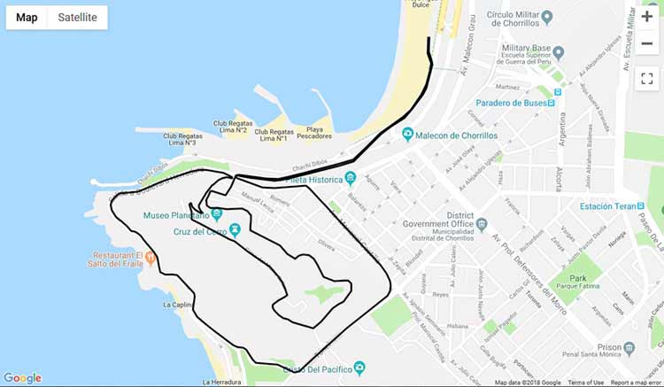 lima night run 2018 route