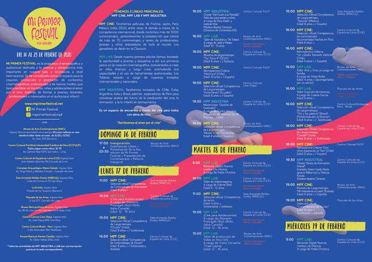 program mi primer festival my first festival 2020 peru