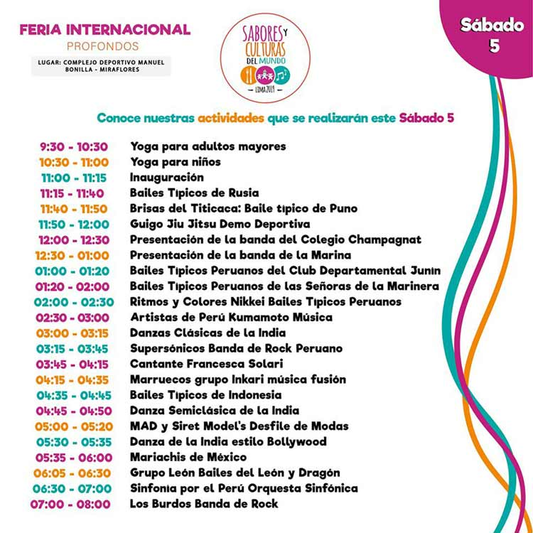 program feria internacional sabores y culturas del mundo october 5