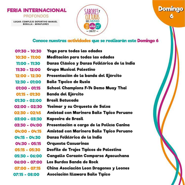 program feria internacional sabores y culturas del mundo october 6