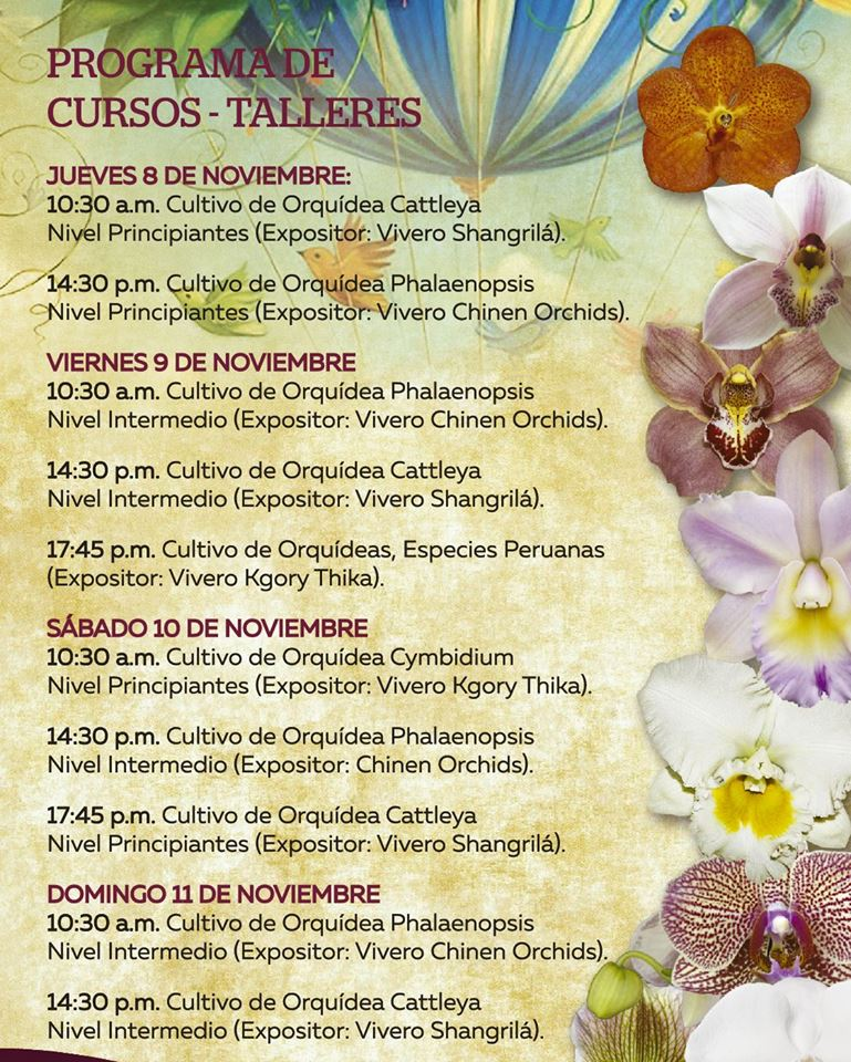 program expo orquideas 2018 lima