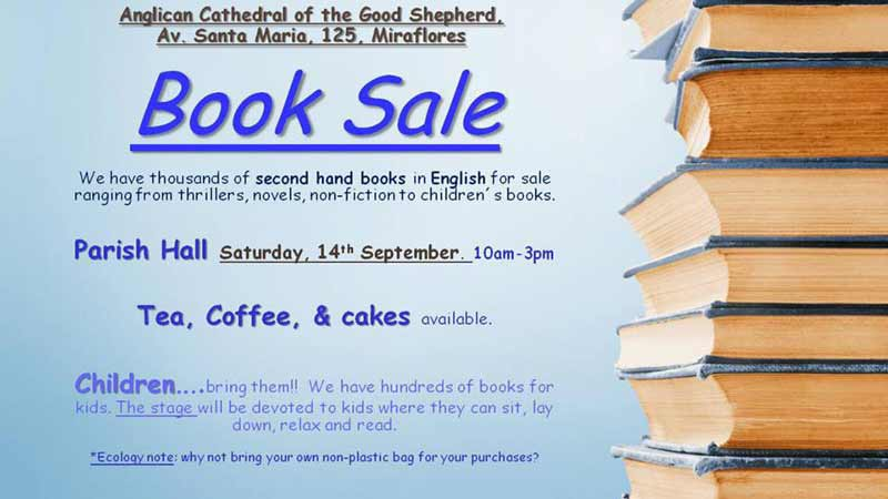 used-english-books-bake-sale-good-shepherd-church-lima-2019