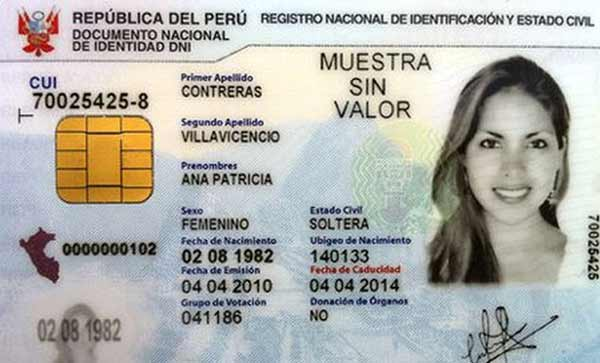 electronic national identity card peru dnie