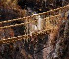Each year in June the Q'eswachaka Bridge, the last remaining Inca rope bridge, is rebuild in a traditional ceremony