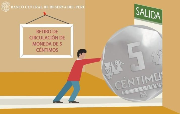 The Peruvian 5 centimos coin is withdrawn from circulation in January 2018; BCRP