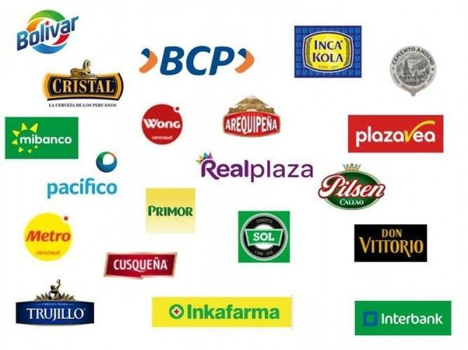 The Top 20 most valuable Peruvian brands 2017; picture compiled by TE Media