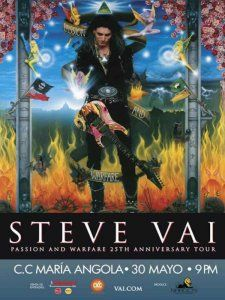 Steve Vai performs in Lima as part of his Passion and Welfare 25th Anniversary World Tour