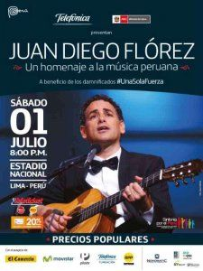 Peruvian tenor Juan Diego Florez gives a charity concert in Lima