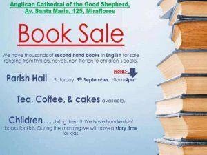 The Good Shepherd Church in Miraflores, Lima is ince again home to the large English books sale