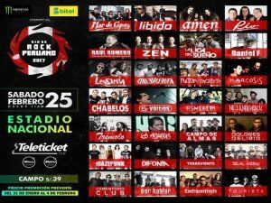 Peruvian Rock Day Festival in Lima 2017