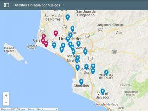 Districts in Lima and Callao without water; photo: El Comercio