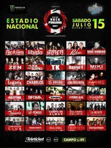 Dia de Rock Peruano  - a concert with 30 local bands and artists