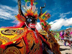 Carnival celebrations in Ayacucho, Peru