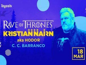 Kristian Nairn (a.k.a. Hodor) performs in Lima showcasing his music at the Rave of Thrones party