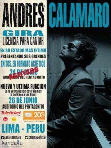 Due to popular demand Andres Calamaro offers a second concert in Lima to his Peruvian fans