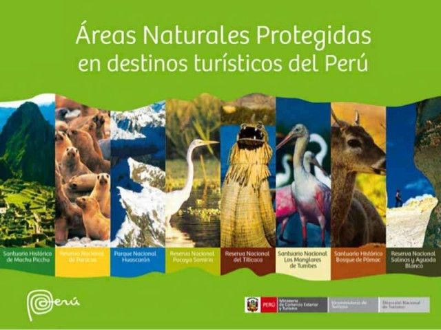 The most visited protected natural areas in Peru