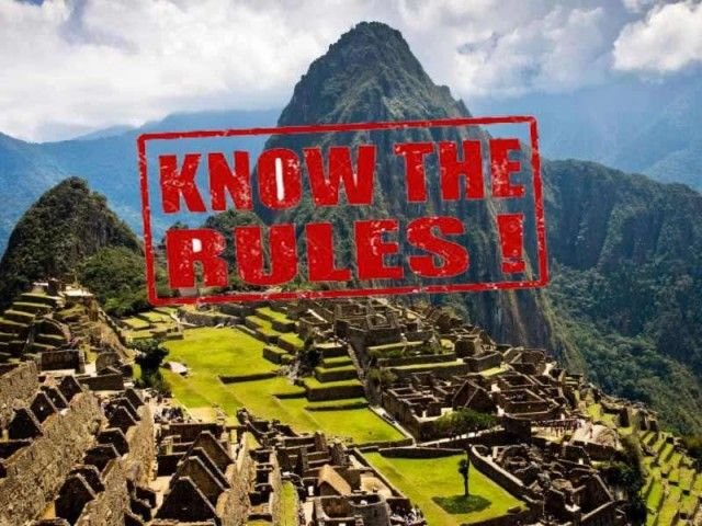 Machu Picchu – stricter code of conduct and prohibited items