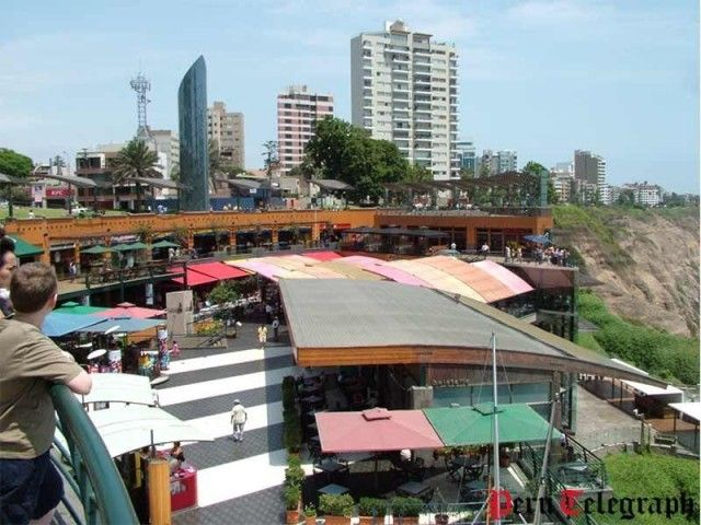 Larcomar shopping mall in Miraflores, Lima reopens