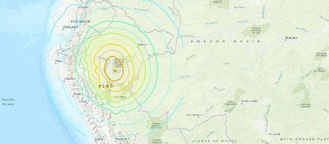Strong earthquake hit northern Peru