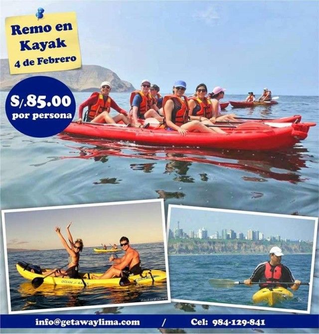 Sea Kayaking along Lima's Costa Verde