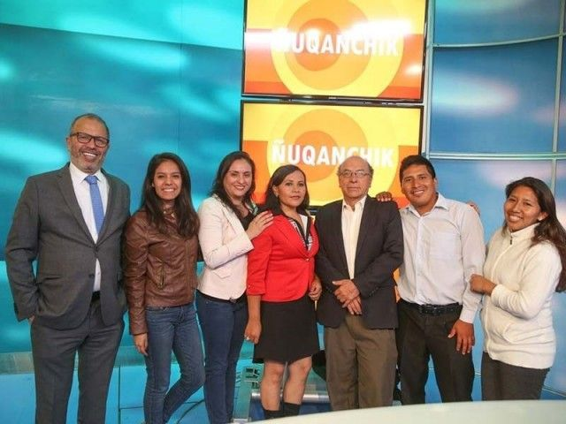 First news program in Quechua broadcasted this morning in Peru