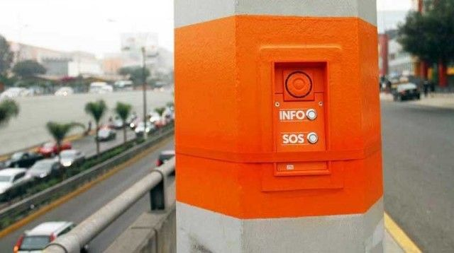 New emergency buttons in San Borja