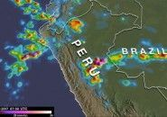 One week of rainfall in Peru - NASA Satellite Imagery